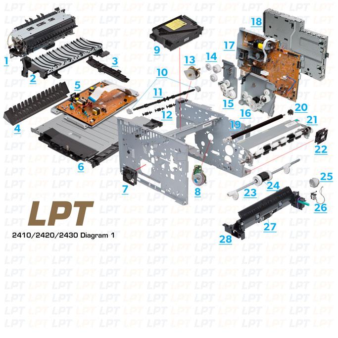 Hp Parts Diagram - Wiring Diagrams Description