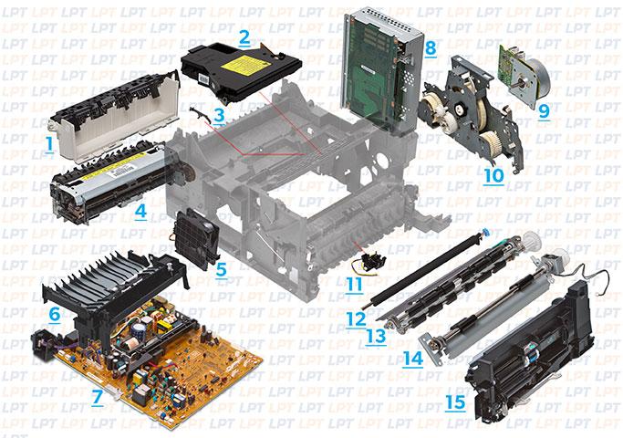 Parts Diagram 1 For Laserjet 4000 4050