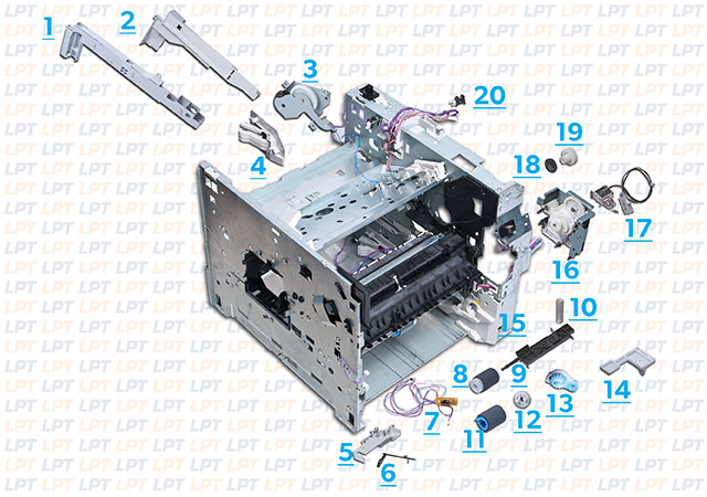 parts diagram for laserjet 4300 rh lbrty com HP LaserJet 4200 HP LaserJet 1200 Toner