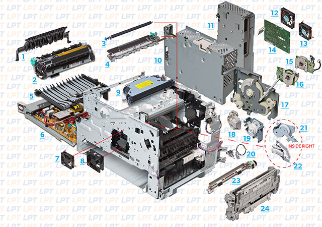 parts diagram for laserjet 4345 m4345 rh lbrty com hp m4345 mfp manual hp 4345mfp parts manual