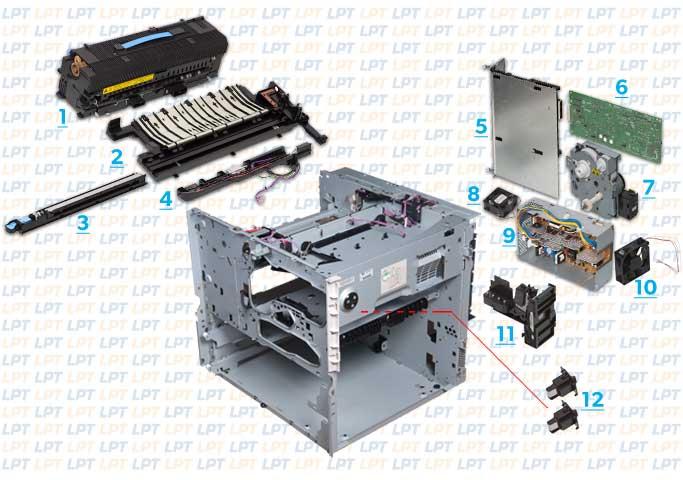 Parts Diagram 2 Hp Lj 9000 9040 9050