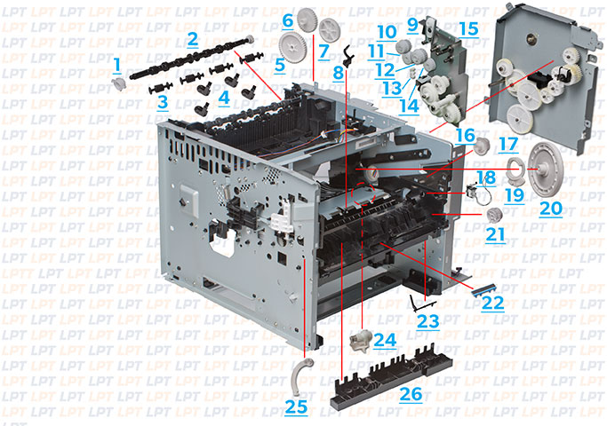 parts diagram 2 for laserjet p3005 rh lbrty com hp laserjet p3005 service manual hp laserjet p3005 manual