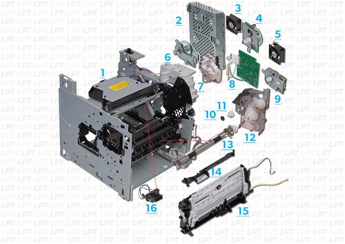 parts diagram 2 for laserjet p4015, p4014, p4515 hp c5280 parts diagram hp parts diagram #7